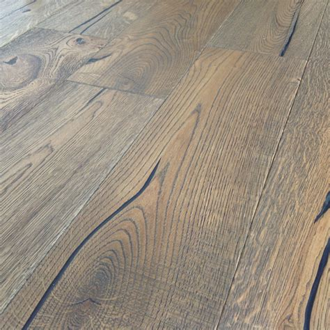Distressed Engineered Wood Flooring Loire Distressed 20mm Mocha Oak Heavy Brushed Engineered Wood Flooring Factory Direct Flooring