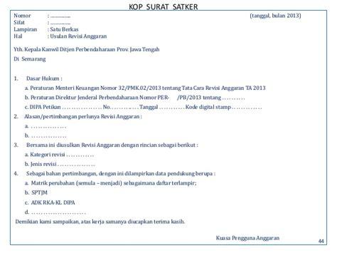 format surat kuasa pmk 229 peraturan revisi dipa 2013
