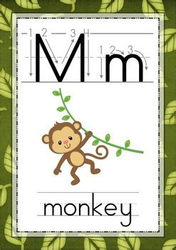 free printable jungle alphabet letters jungle alphabet posters with correct letter formation