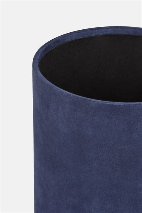 Jysk Storage Stool Navy Blue suede storage stool navy the line