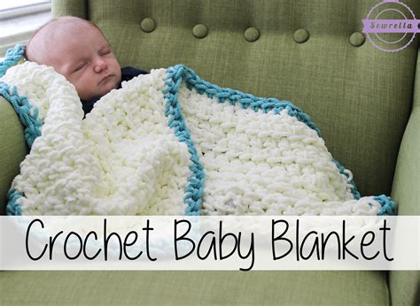 Easiest Way To Crochet A Blanket by Easy Beginner Crochet Baby Blanket Sewrella