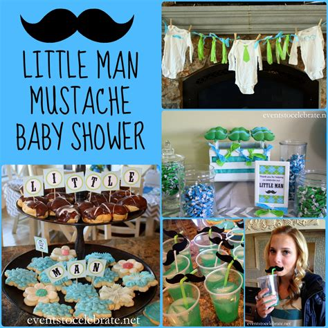 Mustache Baby Shower by Boy Baby Shower Decorations Favors Ideas