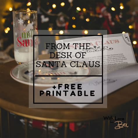 from the desk of santa claus from the desk of santa claus free printable letterhead