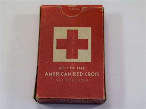Packet Of World Com Gift Cards - complete packet of ww2 american red cross playing cards for us military use world