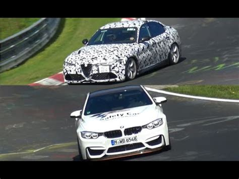 alfa romeo giulia qv vs bmw m4 gts video dpccars