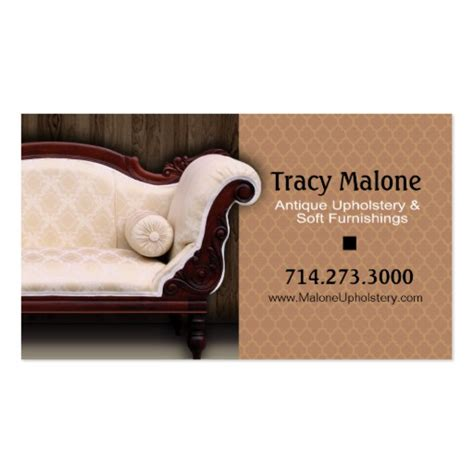 Upholstery Business Upholstery Expert Furniture Designer Business Card Zazzle