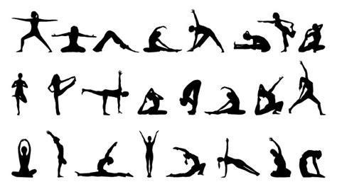 yoga pattern photoshop yoga silhouettes set free psd files