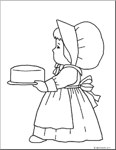 coloring page pilgrim girl coloring page thanksgiving pilgrim girl abcteach