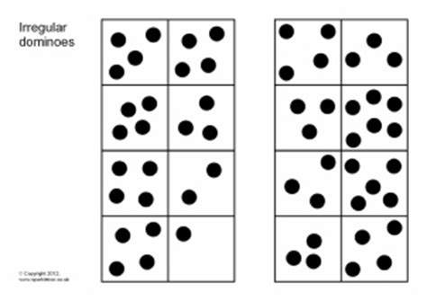 dot pattern flashcards dominoes counting teaching resources and printables