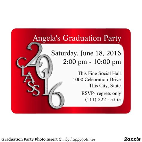 Card Insert Template Free For Graduation by Graduation Photo Insert Card Zazzle