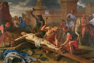 Duvet Throw The Crucifixion Painting By Philippe De Champaigne