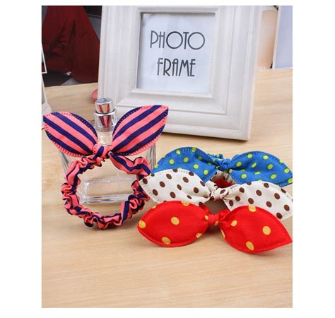 rabbit rubber st 3pcs korean fashion rabbit ears hair rubber band