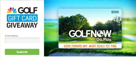Golfnow Com Gift Card - golf channel gift card giveaway enter online sweeps