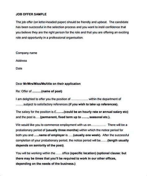 Offer Letters Uk 29 offer letter template