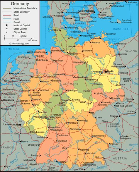 map of the germany germany map and satellite image