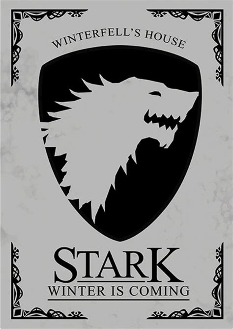game of thrones house of stark house stark game of thrones s 233 ries posters minimalistas got pinterest