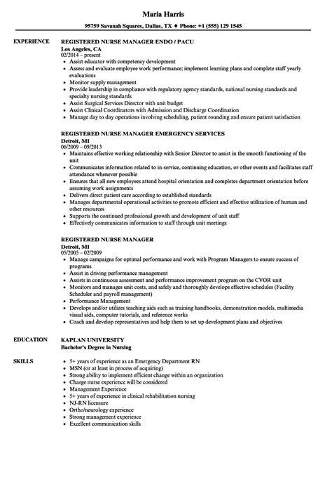charge nurse resume samples visualcv resume samples database