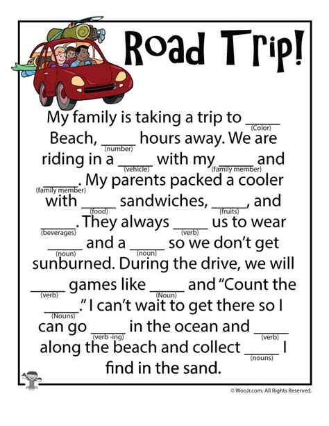 printable road trip mad libs family road trip madlibs woo jr kids activities