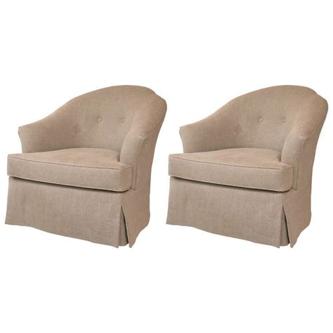 Club Chairs Swivel by Mid Century Swivel Rocking Club Chair Pair At 1stdibs