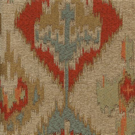 discount upholstery fabric by the yard tonopah sunrise blue ikat latex backed upholstery fabric