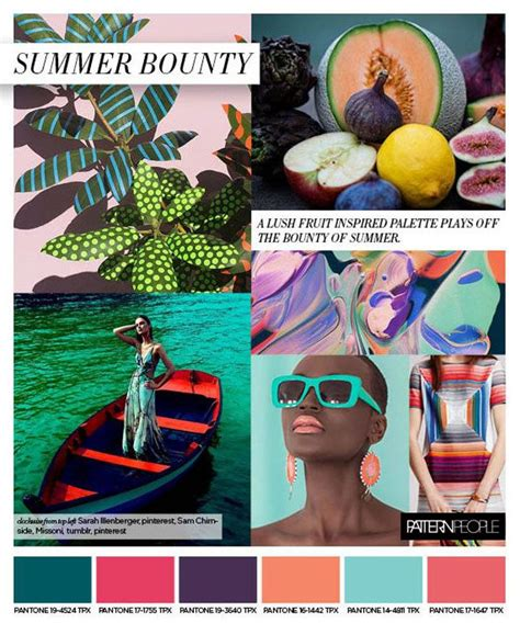 trend colors 2017 patternpeople ss17 trend preview summer bounty on