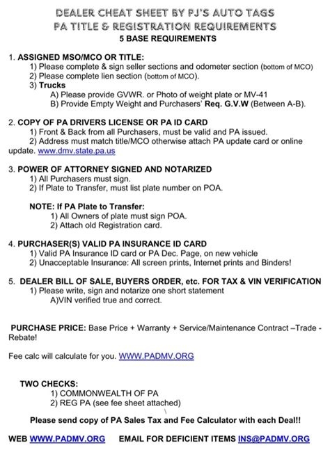 28 Pennsylvania Vehicle Power Of Attorney Form Power Of