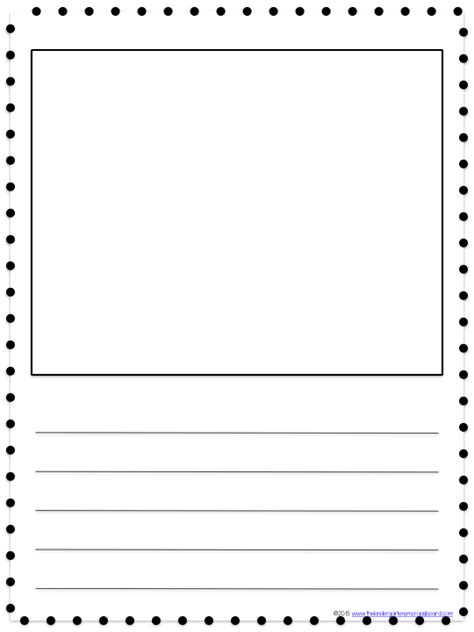 writing paper with picture box search results for lined paper template for kindergarten