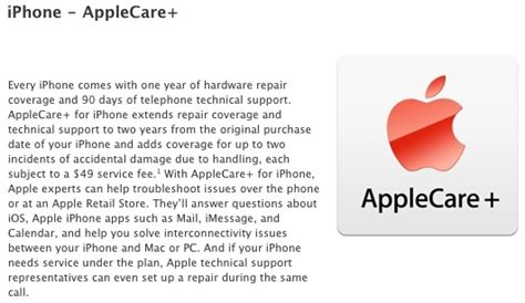 apple launches applecare with iphone damage coverage mac rumors