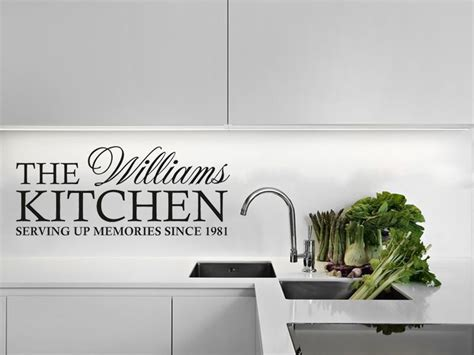 Large Wall Art Stickers personalised family kitchen wall art quote wall sticker decal