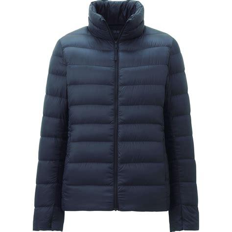 uniqlo light down jacket uniqlo ultra light down jacket in blue navy lyst