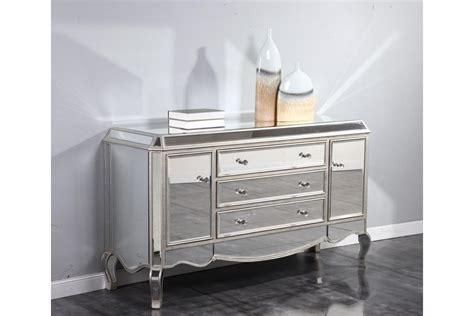 Mirror Finish Dresser by Dresser Mirrors Camille Mirrored Buffet Dresser In