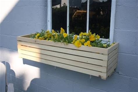 how to make window planter boxes diy window box diy craft projects
