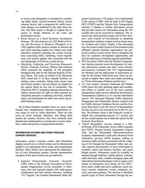 Procter 2004 Literature Review by Chapter Two Literature Review Integrating Tourism And Recreation Travel With Transportation