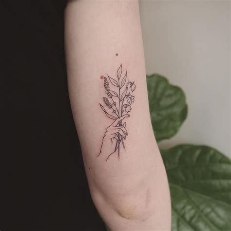 lavendar tattoo jesschen tattoos lavender flower and