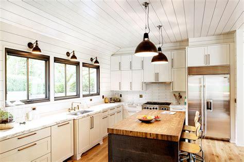 Schoolhouse Electric Pendants   Cottage   kitchen