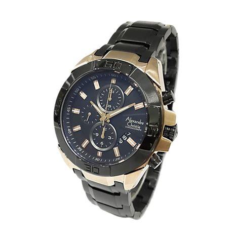jual alexandre christie mcbbrba black jam tangan pria