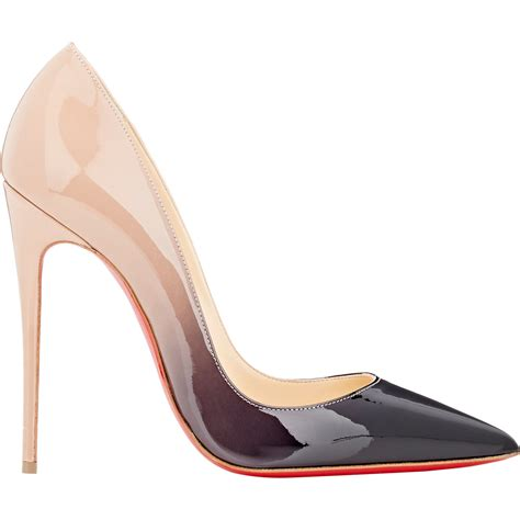 High Heels Shoes Christian Lauboutin 1968 christian louboutin so kate ombr 233 patent leather pumps in black lyst