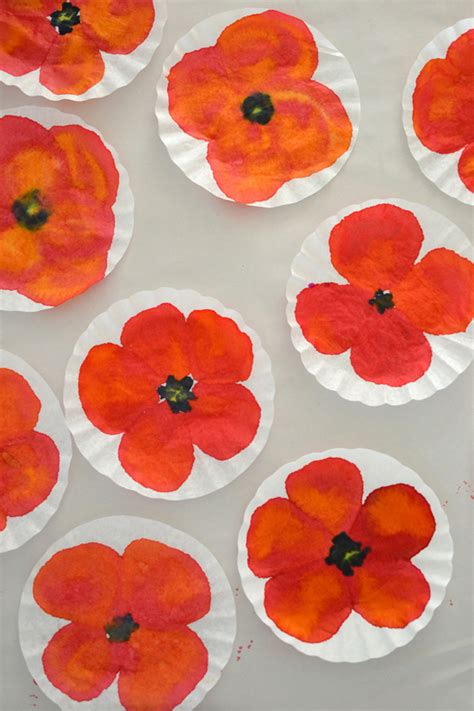 poppy crafts for diy poppy flower crafts and paintings