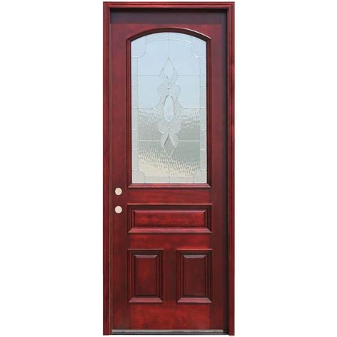 36 X 96 Wood Front Door by Pacific Entries 36 In X 96 In Traditional 3 4 Arch Lite