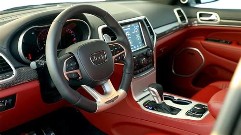 jeep grand cherokee interior 2018 2018 jeep grand cherokee trackhawk interior youtube