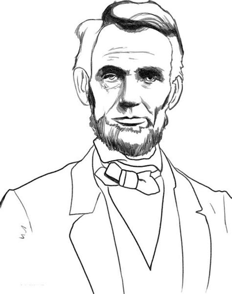 D Sketches by A Sketch Drawing Of Abraham Lincoln Coloring Page