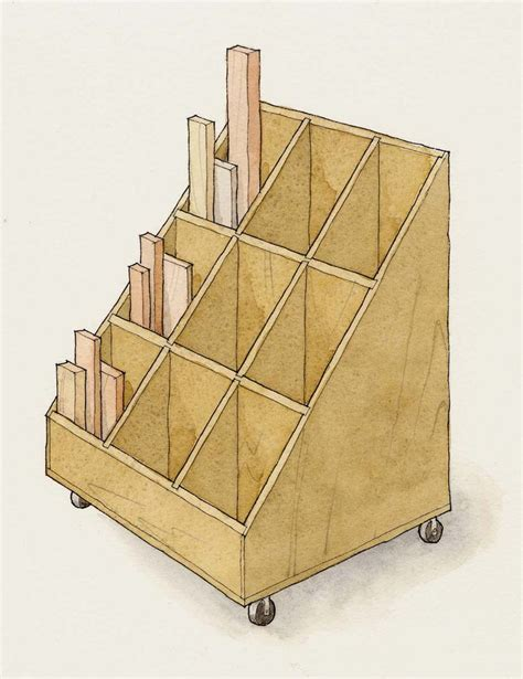 woodworking storage rolling lumber storage cart woodworking projects plans