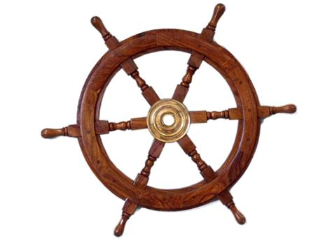 buy deluxe class wood and brass decorative ship wheel 24 - Ship Wheel