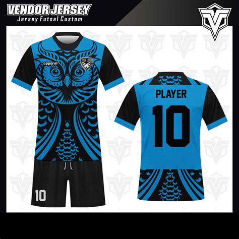 desain jersey futsal warna hitam tempat bikin baju futsal di bekasi vendor jersey bekasi