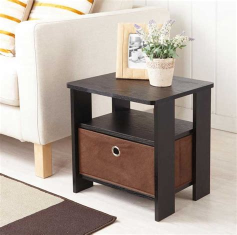 decorating idea flank table modern living room side table with modern design with drawer