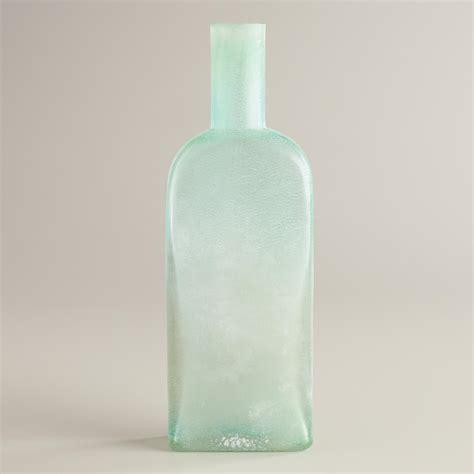 Sea Glass Bottles Ideas Square Sea Glass Bottle Vase World Market