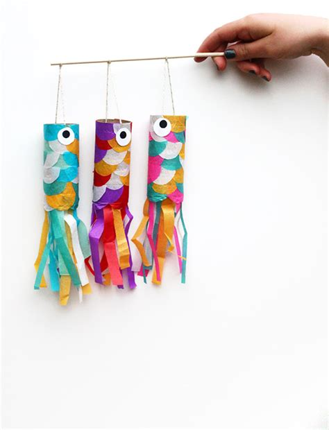 Japanese Craft Paper - diy mini koinobori japanese flying carp diy squirrelly