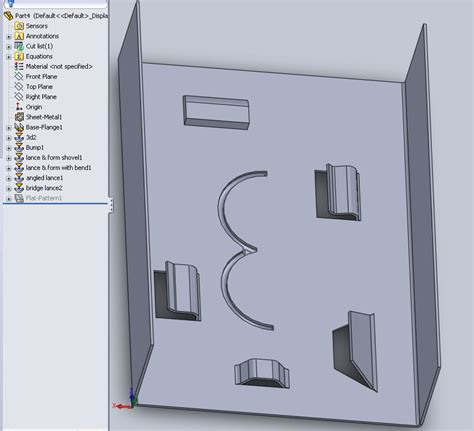 solidworks tutorial forming tool forming tool cswp sheet metal 3d engineer