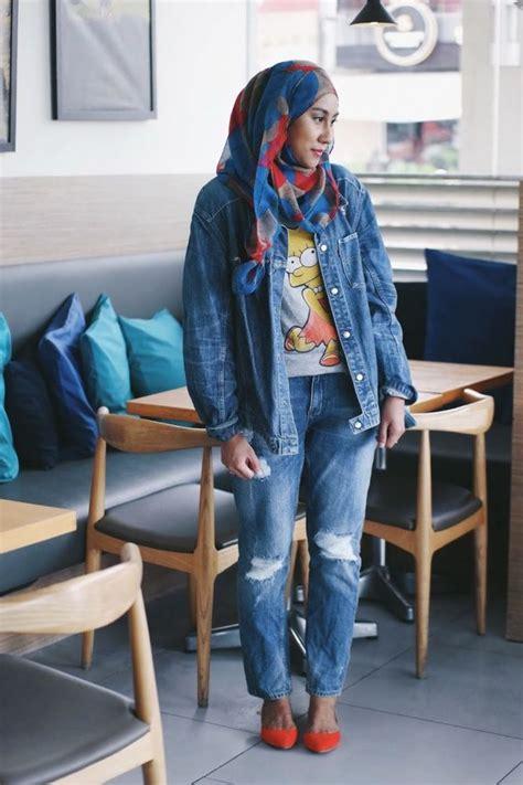 Bag Denim Cantik 8 gaya anggun dengan baju berbahan atau denim