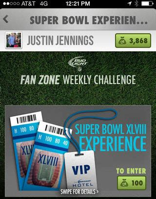 Bud Light Sweepstakes 2014 - super bowl promotions and ads from bud light help fans get in the game american